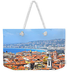 Weekender Tote Bag featuring the photograph Terra Cotta Roofs by Corinne Rhode