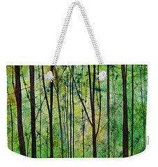 Weekender Tote Bag featuring the painting Terra Verde by Hailey E Herrera
