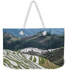 Terrace Fields Scenery In Spring Weekender Tote Bag