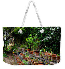 Terracotta Pots In The Botanical Gardens Of Pisa Italy Weekender Tote Bag