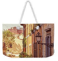 Weekender Tote Bag featuring the photograph Terracotta - Rome Italy Travel Photography by Melanie Alexandra Price