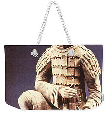 Weekender Tote Bag featuring the photograph Terracotta Soldier by Heiko Koehrer-Wagner