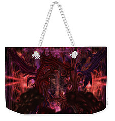 Weekender Tote Bag featuring the digital art Terrible Certainty by Reed Novotny
