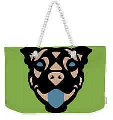 Terrier Terry - Dog Design - Greenery, Hazelnut, Niagara Blue Weekender Tote Bag
