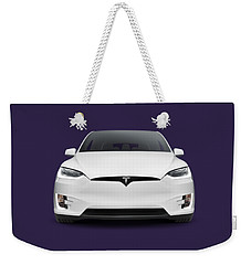 Tesla Model X Luxury Suv Electric Car Front Art Photo Print Weekender Tote Bag