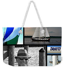 Tahiti Square Collage Weekender Tote Bag