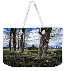 Weekender Tote Bag featuring the photograph View From Mormon Row by Scott Read