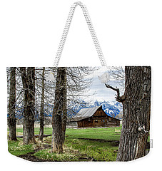 Weekender Tote Bag featuring the photograph Moulton Barn On Mormon Row by Scott Read