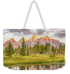 Teton Morning Weekender Tote Bag by Mary Hone