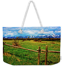 Weekender Tote Bag featuring the photograph Teton Park Spring by Norman Hall