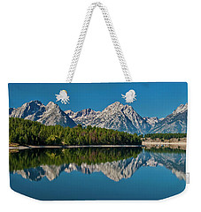 Weekender Tote Bag featuring the photograph Teton Reflections by Gary Lengyel