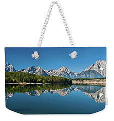 Weekender Tote Bag featuring the photograph Teton Reflections II by Gary Lengyel