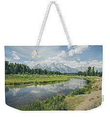 Weekender Tote Bag featuring the photograph Teton Reflections by Margaret Pitcher