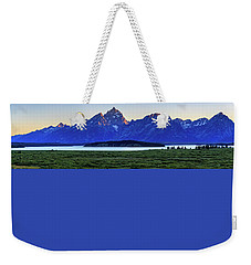 Weekender Tote Bag featuring the photograph Teton Sunset by David Chandler