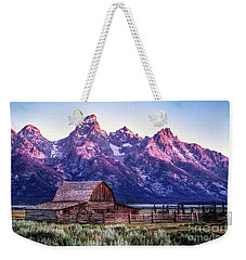 Tetons And Barn Weekender Tote Bag