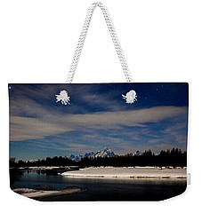 Tetons At Moonlight Weekender Tote Bag