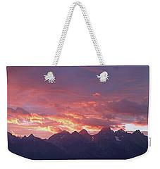 Tetons Sunset Weekender Tote Bag