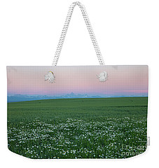 Tetons With Daisies Weekender Tote Bag