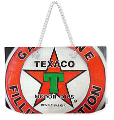 Texaco Sign Weekender Tote Bag