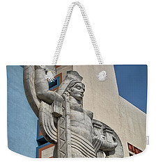 Weekender Tote Bag featuring the photograph Texas Art Deco Sculpture by David and Carol Kelly