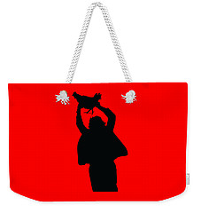 Weekender Tote Bag featuring the digital art Texas Chicken Massacre by Christopher Meade
