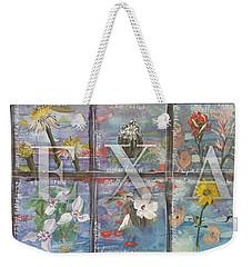 Texas Flowers In Blue Weekender Tote Bag