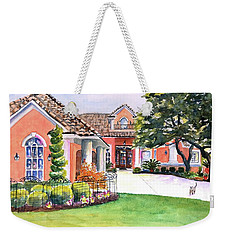 Texas Home Spanish Tuscan Architecture  Weekender Tote Bag