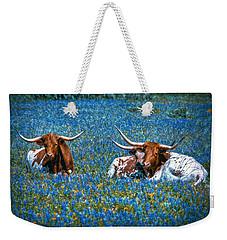 Texas In Blue Weekender Tote Bag