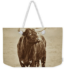 Texas Longhorn And The Windmill Weekender Tote Bag