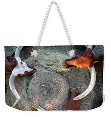 Texas Longhorn Cattle, Ft. Worth Stockyards Weekender Tote Bag