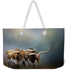 Texas Longhorn Pair Weekender Tote Bag