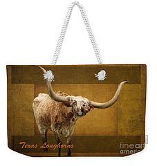 Weekender Tote Bag featuring the photograph Texas Longhorns by Ella Kaye Dickey