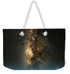 Texas Milky Way Weekender Tote Bag by Larry Landolfi