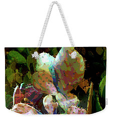Texas Prickly Pear Posterized Photograph Weekender Tote Bag