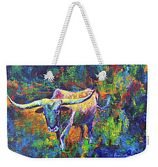 Weekender Tote Bag featuring the painting Texas Pride by Karen Kennedy Chatham