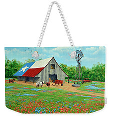 Texas Ranch Barn Weekender Tote Bag