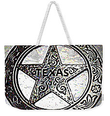 Weekender Tote Bag featuring the photograph Texas Ranger Badge by George Pedro