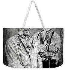 Texas Rangers Gus And Woodrow Paint Edit Weekender Tote Bag