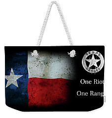 Texas Rangers Motto - One Riot, One Ranger Weekender Tote Bag