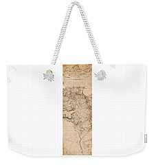 Texas Revolution Santa Anna 1835 Map For The Battle Of San Jacinto With Border Weekender Tote Bag