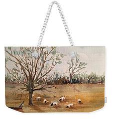 Texas Sheep Weekender Tote Bag by Christine Lathrop