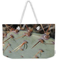 Weekender Tote Bag featuring the photograph Texas Spikes by Laddie Halupa