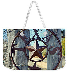 Texas Star Rustic Iron Sign Weekender Tote Bag