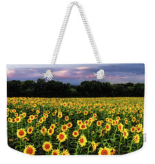 Weekender Tote Bag featuring the photograph Texas Sunflowers by Robert Bellomy