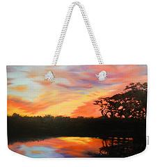 Texas Sunset Silhouette Weekender Tote Bag