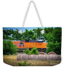 Texas Train Weekender Tote Bag