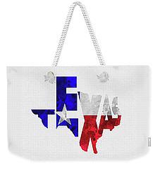 Texas Typographic Map Flag Weekender Tote Bag