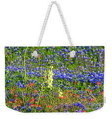 Weekender Tote Bag featuring the photograph Texas Wildflowers by Kathy White