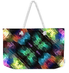 Textural Abstract Of Colors Weekender Tote Bag