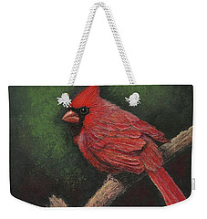 Textured Cardinal Weekender Tote Bag by Janet King